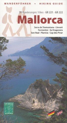 Majorque guide de randonne et un ensemble de 7 cartes topographiques (Serra de Tramuntana, Llevant, Formentor, Sa Dragonera, Son Real, Plancia, Cap des Pinar) GR 221, GR 222