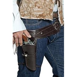 Smiffys Authentiques holster et ceinture de western, holster simple
