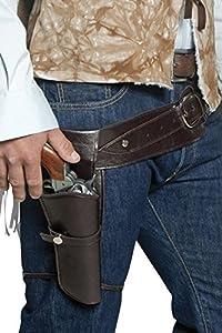 Western - Cinturón de pistola para disfraz de vaquero (hombre) (33097)
