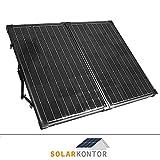 WATTSTUNDE® 120W Solarkoffer MONO WS120SKS Solarmodul faltbar Wohnmobil Batterie