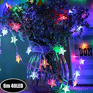 Star Fairy Light Galaxer Led Sternacht String Licht 20Ft / 6M 40 Stück Monochrom Modus Dekoration Licht Wasserdicht Warm 4 Farbe USB Powered Für Weihnachten Urlaub und Party