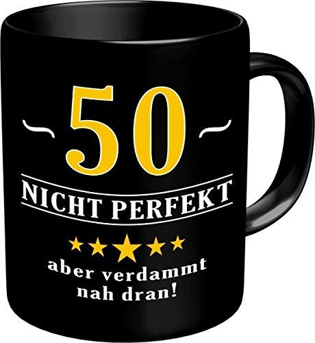 RAHMENLOS® Kaffeebecher zum 50. Geburtstag - Im Geschenkkarton 2597