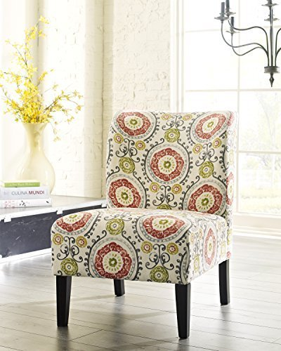 Honnary Curve Back Fabric Accent Chair, Floral by FurnitureMaxx