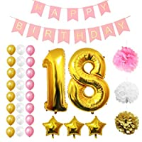 Set Palloncini 18° Compleanno da Belle Vous   Questo set di palloncini per compleanno trasformeranno una normale festa di compleanno in quella del secolo; con ben 32 pezzi potrai essere sicuro di organizzare l'evento più memorabile dell'anno...