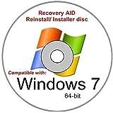Windows 7 Home Premium 64 Bit New Reinstall Operating System Boot Disc - Repair Restore Recover DVD