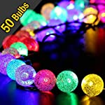 iihome, 36ft(11M) 60 LED String Outdoor IP65 Waterproof Solar Powered Crystal Ball Decorative Lighting 8 Modes for… 10