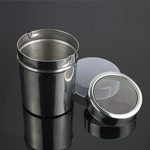 LanLan Stainless Steel Fine Mesh Shaker Icing Sugar Powder Matcha Cocoa Flour Sifter Cooking Tools with Lid