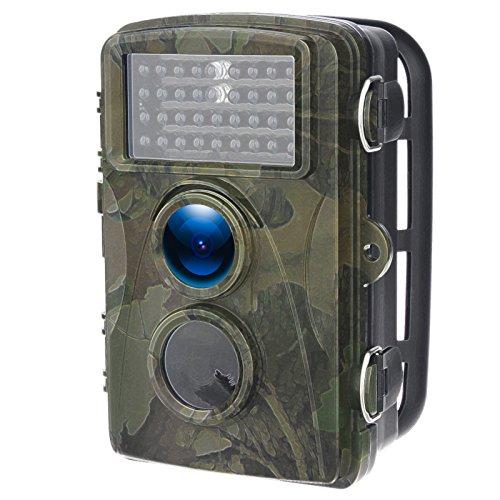 DIDseth Wildkamera Fotofalle 12MP 720P HD Jagdkamera 70° Weitwinkel Vision Infrarote 20m Nachtsicht Wasserdichte IP56 Überwachungskamera Nachtsichtkamera 0.6S mit 34 LEDs (Mit Bewegungs-sensor Blitzlicht)