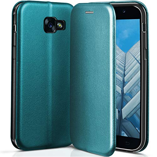 ONEFLOW Samsung Galaxy A5 (2017) | Hülle Hell-Blau mit Karten-Fach 360° Business Klapp-Hülle Handytasche Kunst-Leder Handyhülle für Samsung Galaxy A5 2017 Flip Case Cover Tasche Schutzhülle