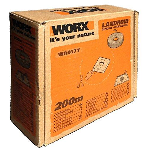 Worx Begrenzungsdraht für Landroid Mähroboter, 200 m, 1 Stück, WA0177