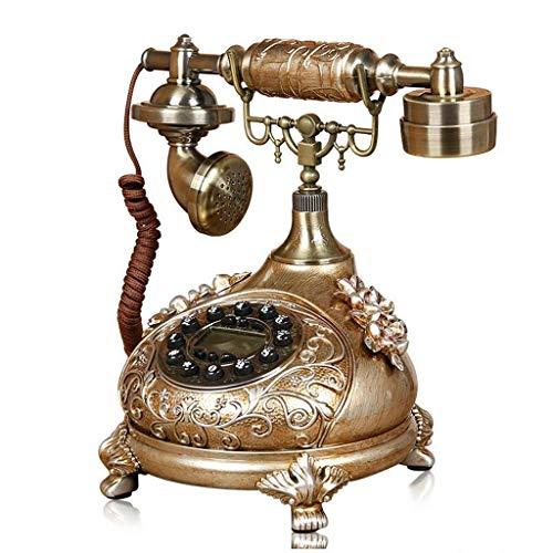 RMXMY Europäisches Artwohnzimmerantiken-Telefonhauptschlafzimmer kreatives Retro- örtlich festgelegtes Telefonmode-Weinlesefestnetz