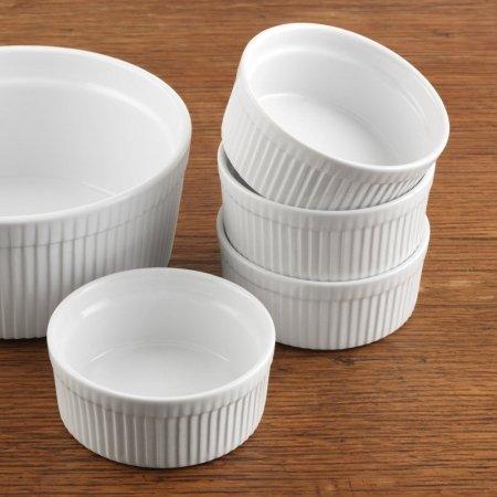 BIA Cordon Bleu Inc 900013 blancs de 283,5 gram en porcelaine individuels Souffle Bol