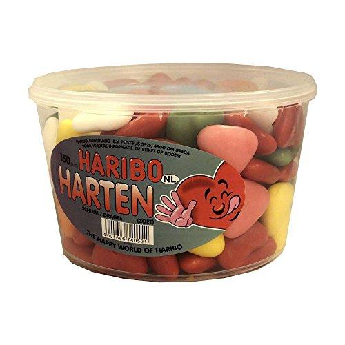 Haribo Harten 150 Stck. Runddose IMPORT (Dragee Herzen)