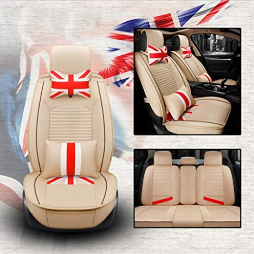 Car Seat Covers, British M Word Flag 3D All-Inclusive Car Seat Five-seat Universal Linen Four Seasons Cushion,C
