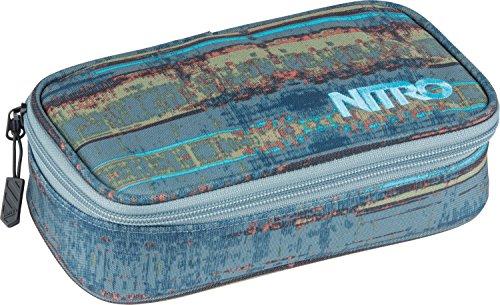 Nitro Pencil Case XL inkl. Geo Dreieick & Stundenplan, Federmäppchen, Schlampermäppchen, Faulenzer Box, Federmappe, Stifte Etui, Frequency Blue