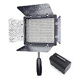 (Con Batteria E Caricabatteria) Yongnuo YN-300 LED Illumination Dimming Video Light Luce Video Per Canon 5D,7D,50D,60D,500D,550D,600D,1000D,1100D; Nikon D700,D300,D400,D200,D90,D60,D3,D2,D1,D7000,D5000,D3100,D3000 +IR Remote
