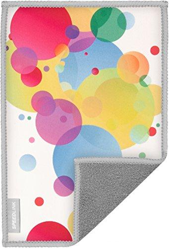 Speedlink Hochwertiges Mikrofasertuch - SILK Cleaning Cloth Bubbles (schonende Reinigung von Gehäuse und Display - trockene und feuchte Anwendung - langlebiges, wiederverwendbares Material) Tablet-PCs / Pads Smartphones