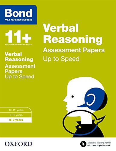 Bond 11+: Verbal Reasoning: Up to Speed Papers: 8-9 years