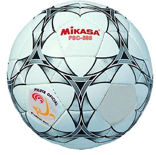 MIKASA FSC-58S FCF Balón Fútbol Sala, Adultos Unisex, Multicolor Blanco/Negro, 58