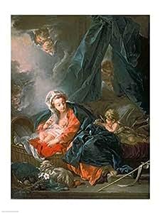 Francois Boucher - La Sainte Vierge et l'Enfant Impression d'art Print (45,72 x 60,96 cm)