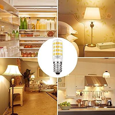 AMBOTHER E14 LED Lampe 4,5W/400LM Glühlampe statt 50W Halogenlampe Leuchtmittel mit 52 LED Glühbirnen Warmweiß 3000K 360° Lichtwinkel Energiesparlampe für Kühlschrank Kronleuchte Wandlampe, 5er Pack