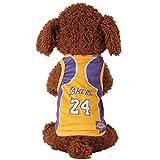 Kaymayn Pet maglia da calcio con licenza Dog jersey, vestiti del cane calcio t-shirt cani costume National Soccer World Cup, outdoor abbigliamento sportivo estate traspirante, Lakers, S