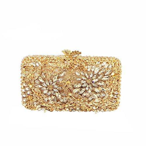Luxus-Diamant-Abendbeutel Art Und Weise Diamant-Handtasche Der Frauen Gold