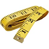 Kakaxi(TM) 120-Inch Soft Tape Measure for Sewing Tailor Cloth,Yellow