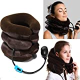 #1: Cartshopper Portable Neck Pillow Three Layers Tractor Massager Excerciser For Cervical Spine Neck Back Shoulder Pain