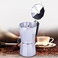 Tradico® 3&12-Cup Moka Pot Aluminum Coffee Maker Percolator Top Latte Maker Cafe Shop