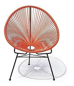 Chaise acapulco noir et orange jardin - Chaise acapulco noir ...