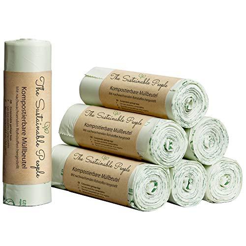TSP Bio-Müllbeutel 20 Liter - 70 sichere, reissfeste Abfallsäcke - OK compost HOME zertifiziert - 100{0dd213749f8208d7d3521851229ee37c4a6fb2fa54d100322be9d732e3bff134} heim-kompostierbar und biologisch abbaubar - Abfallbeutel für Ihren Kompost & die Biotonne (70)