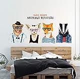 Dibujados a mano Animales Hipsters Vinilo Pegatinas de Pared para la habitación de los niños Cuarto de niños Cocina Cocina Decoración de la pared Perros Wallpaper Arte Murales