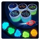 TRITTON tipo 55,8polvo selbstleuc htend | 5x 20g Noche vibrantes pigmentos luminiscente polvo Juego Incluye lámpara UV