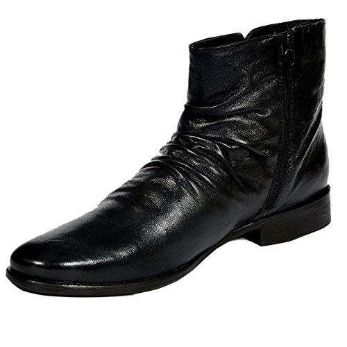 Style Centrum Men's Black Leather Boots - B00L48OXT6