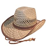 Straw Cowboy Hat with Shapeable Brim