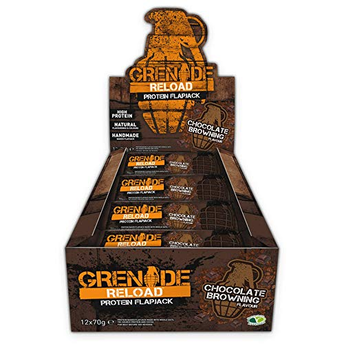 Grenade Reload Protein Flapjacks Chocolate Browning - 12 Barras
