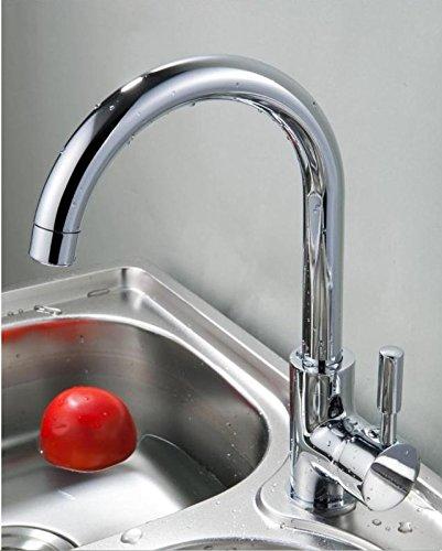 BBSLT Rubinetto miscelatore lavello rubinetto lavabo in acciaio inox rubinetto