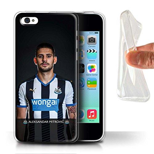 Offiziell Newcastle United FC Hülle / Gel TPU Case für Apple iPhone 5C / Colback Muster / NUFC Fussballspieler 15/16 Kollektion Mitrovic