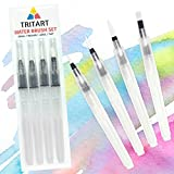 Tritart Water Brush Pen Wasserpinsel Set mit Tank für Aquarell/4 Wassertankpinsel