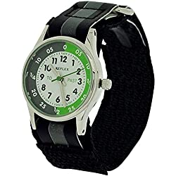 Reflex Time Teacher Black & Grey Easy Fasten Watch REFK0003 + Telling Time Award