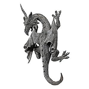 Design Toscano Gehörnter Drache von Devonshire Wandfigur, Maße: 18 x 11.5 x 34.5 cm 1.25 kg