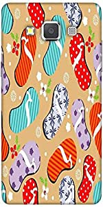 Snoogg abstract summer background Hard Back Case Cover Shield For Samsung Galaxy A7