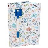 LEGO Zeitschrift mit Backstein-Platte und Gel Pen Multicored Abdeckung mit Ziegel und blauen Stift 96 breit regiert Seiten 6