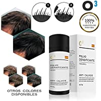 O³ Fibras Capilares Negro 27,5 Gramos Para Caida Del Cabello – Keratin Fibers 100% Natural Para Disimular Calvicie.