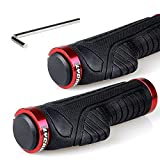 Best Mountain Bike Grips - LYCAON Bike Handlebar Grips, Two Sides Locking Non-Slip-Rubber Review