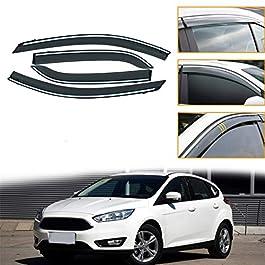 ALLYARD per Focus Hatchback/Sedan 2007-2011 Visiera Finestra d'Aria Deflettori Acrilico Parapioggia Deflettore Parasole…