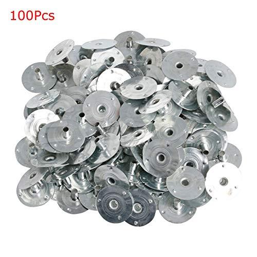 FXCO 100Pcs Kerzenhalter Wick Metal Sustainer Wick Tabs Silber für die Kerzenherstellung