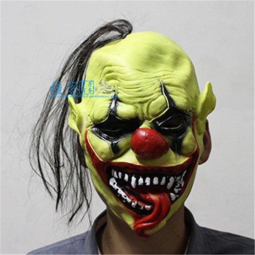 Green Face Clown Maske Weihnachten Halloween Kostüme Tanz High-Grade Soft (Ohne Maske Kostüm Chucky)