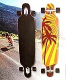 Topfit Longboard Palm Tree Skateboard ABEC 7 Kugellager Komplettboard Speedboard 106 x 26 x 12 cm